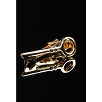La Pescara Anahtar Gold Kravat İğnesi Kıy27
