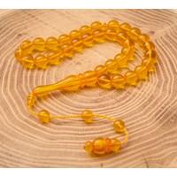 Rachon Akrilik Sarı Kehribar Rengi Tesbih