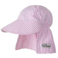 Flap Happy Pembe Çizgiler Flap Şapka
