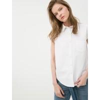 Koton Jeans Kadın Klasik Yaka Gömlek Beyaz