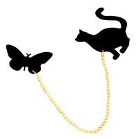Bee One Akrilik Plastik Kedi ve Kelebek Model Yakalık cb97