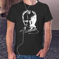 BuldumBuldum Atatürk Portresi T-Shirt - Erkek Bisiklet Yaka