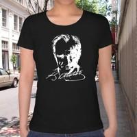 BuldumBuldum Atatürk Portresi T-Shirt - Bayan U Yaka