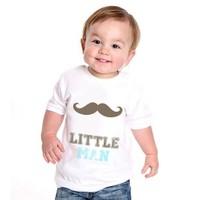 BuldumBuldum Küçük Adam Bebek T-Shirt - Beyaz 1-2 Yaş