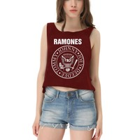 Köstebek Ramones Yarım Kadın T-Shirt Byyt033