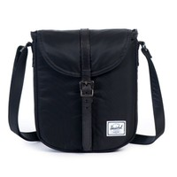 Herschel Çanta Kingsgate Select Black/Black Died Veggie Tan Leather