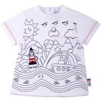 Tuc Tuc Deniz Feneri Gemi Ve Güneş Baskılı T-Shirt Saint Tropez
