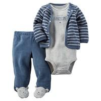 Carter's Layette Erkek Bebek Havlu 3lü Set 126G325