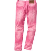 John Baner Jeanswear Pembe Eskitilmiş Efektli Skinny Pantolon
