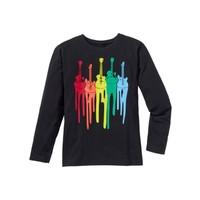 Bpc Bonprix Collection Siyah Uzun Kollu Baskılı T-Shirt