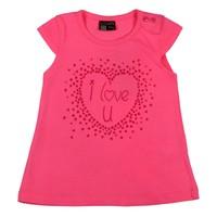 Losan Kız Bebek Pembe I Love You Tshirt