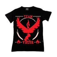 Köstebek Pokemon Team Valor (Kırmızı Takım) Çocuk T-Shirt Gt114