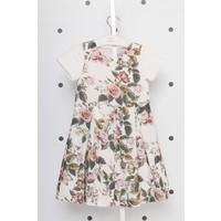 Goose Kız Çocuk Eteği Plikaşeli Simli Elbise
