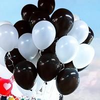 25 Adet 1. Sınıf XL Siyah-Beyaz Renk Balon mm18-25