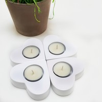 Chavin 4 Adet Beyaz Kalpli Polyester Tea Light Mumluk de16