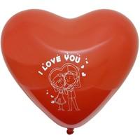 Chavin I Love You Evlilik Teklifi XL 25 adet Kırmızı Kalp Balon