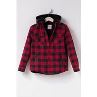 Defacto Genç Erkek Kırmızı Çıkarılabilir Kapşonlu Ceket