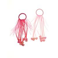 Coquet Accessories 2'li Kalp Lastik Toka