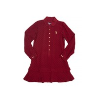 U.S. Polo Assn. Tedy Kız Çocuk Dokuma Elbise