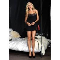 Leg Avenue Arka Kısmı Fileli Mini Elbise 86390sy