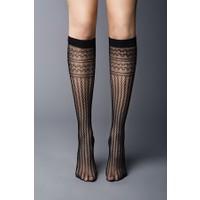 Veneziana Siyah Dizaltı Çorap DAISY NERO