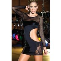 Miss Lancy Dantel File Detaylı Mini Elbise mly331