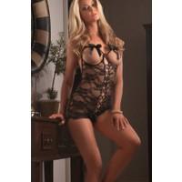 Miss Lancy Dantel Ön Kısmı Çapraz Bağlı Body mly338