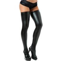 Miss Lancy Deri Latex Görünümlü Parlak Jartiyer Çorabı mly6001sy