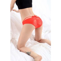 Miss Lancy Dantelli Fiyonklu Kırmızı Külot mly9023kr