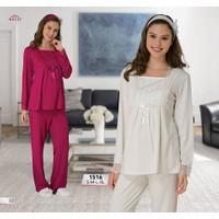 Mecit Taşlı Mikro Lohusa Pijama Takımı