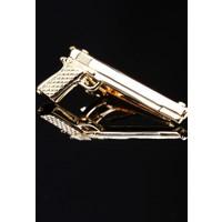 La Pescara Silah Gold Kravat İğnesi Kıy09
