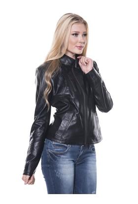İparelde B07 Bayan Siyah Deri Ceket