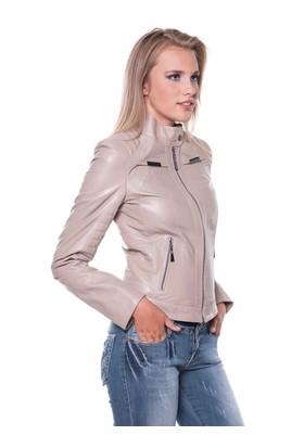 İparelde B2336 Bej Bayan Deri Ceket