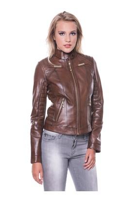 İparelde B2336 Kahverengi Bayan Deri Ceket