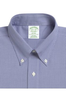 Brooks Brothers Düğmeli Yaka Kaz Ayağı Ekstra Slim Gömlek