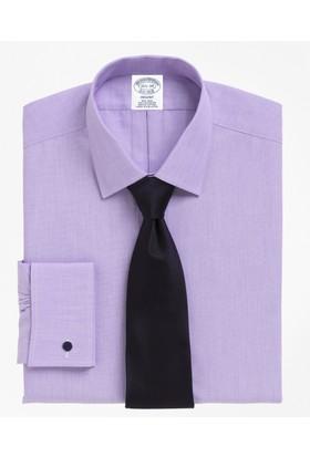 Brooks Brothers Kravat Yaka Slim Beyaz Gömlek