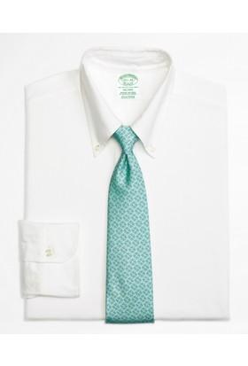 Brooks Brothers Oxford Düğmeli Yaka Beyaz Gömlek