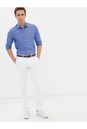 Koton Erkek Yüksek Bel Pantolon Beyaz