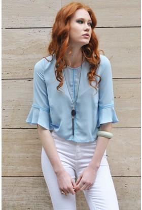 Sofistiqe Açık Mavi Bluz