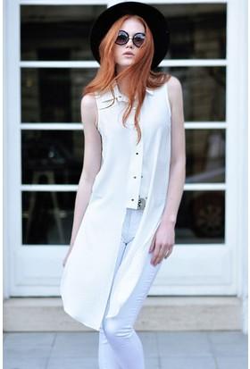 Sofistiqe Beyaz Tunik
