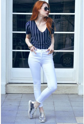 Sofistiqe Beyaz Pantolon