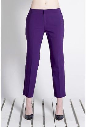 Sofistiqe Mor Klasik Pantolon