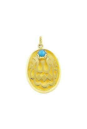Bilezikhane Maşallah Mavi Boncuklu 1,63 Gram 14 Ayar Altın