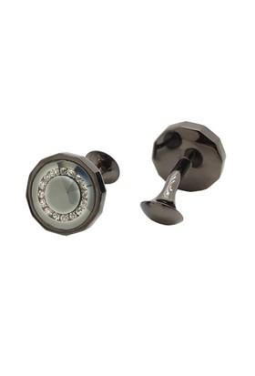 Chavin Siyah, iç Kısmı Taşlı Çelik Erkek Kol Düğmesi cy99