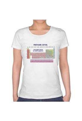 BuldumBuldum Periyodik Cetvel T-Shirt - Bayan U Yaka