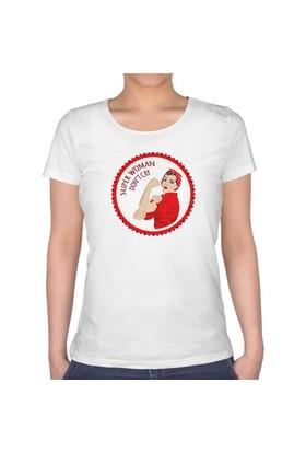 BuldumBuldum Kadınlar Gününe Özel Dont Cry T-Shirt - Bayan U Yaka