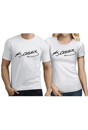 BuldumBuldum Sevgili T-Shirt - Beyaz - Atatürk İmzası
