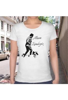 BuldumBuldum Atam İzindeyiz T-Shirt - Bayan U Yaka