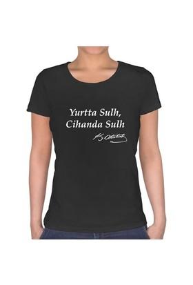 BuldumBuldum Yurtta Sulh - Bayan U Yaka T-Shirt