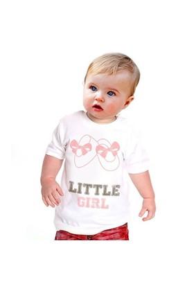 BuldumBuldum Küçük Hanım Bebek T-Shirt - Beyaz 1-2 Yaş